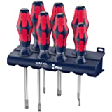 Wera 05227700001 Red Bull Racing Screwdriver Set, Kraftform Plus Lasertip, Rack, 7-Piece