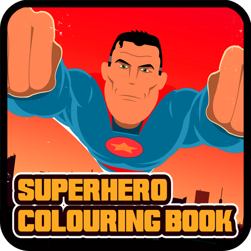 Superhero Coloring Book image