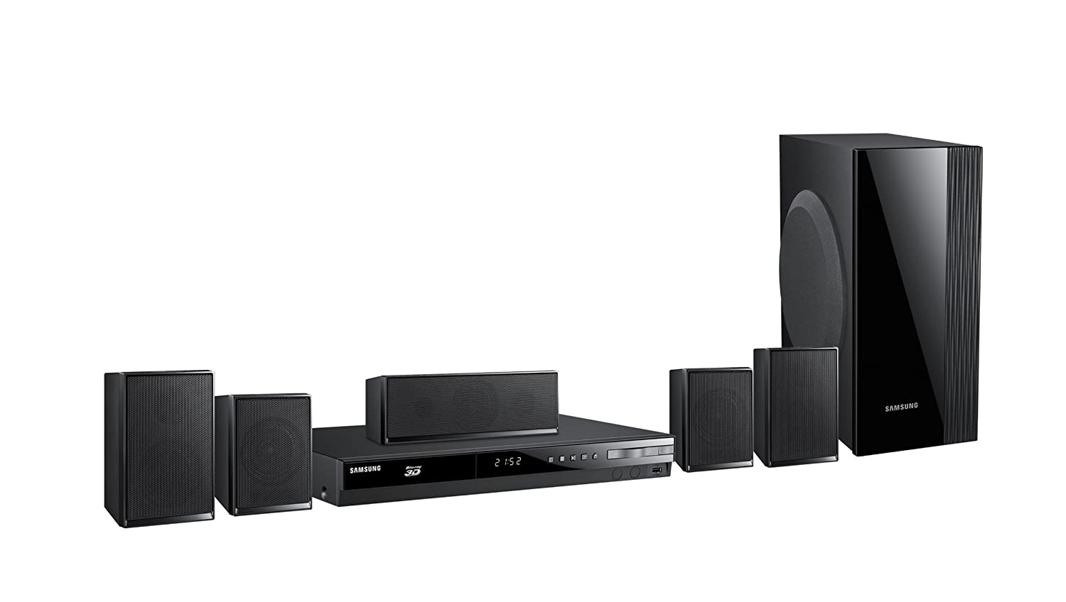 sold samsung ht e4500 3d blu ray 1000w 5 1 home theater system like new 170 for sale. Black Bedroom Furniture Sets. Home Design Ideas