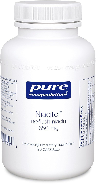 Pure Encapsulations Niacitol (no-flush niacin) 650 mg 90 Capsules free shipping milk thistle advantage 525 mg 60 capsules protect the liver