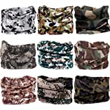 Multifunctional Stretchable Sport & Casual Headwear, Headband Scarf Bandanna Headwrap Mask Neckwarmer & More 12-in-1, 9PC.Camouflage New Series.2 (Color: 9PC.Camouflage New Series.2)
