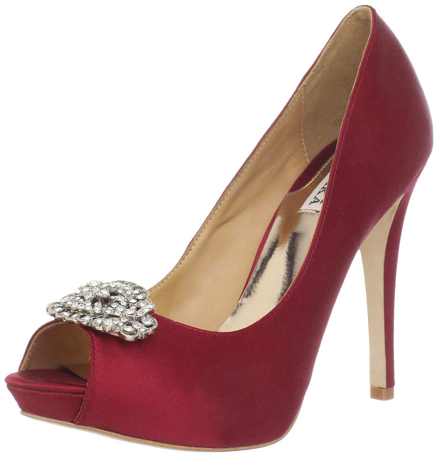 Badgley Mischka Women's Goodie Peep-Toe Pump