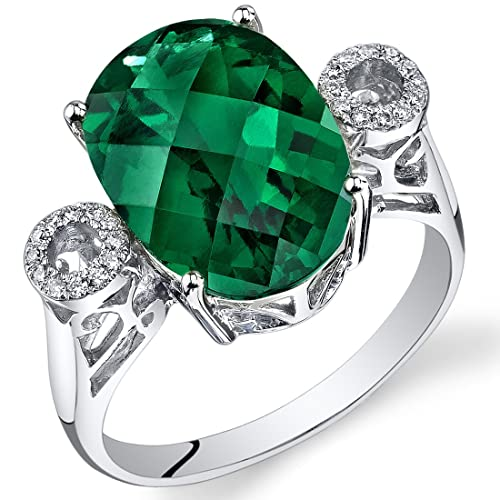 Peora-14K-White-Gold-Oval-Created-Emerald-Diamond-Ring-5-25-cttw-
