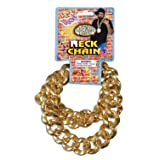 Forum Novelties 80'S Big Links Neck Chain Gold (Color: Gold, Tamaño: One Size)