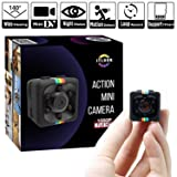 Hidden Spy Camera 1080P Mini Security Wireless cam with Night Vision, Video Recorder for Nanny/Housekeeper, Sports Action Cam with Motion Detection for Home, Car, Drone, Office and Outdoor Use (Color: Black\Grey)