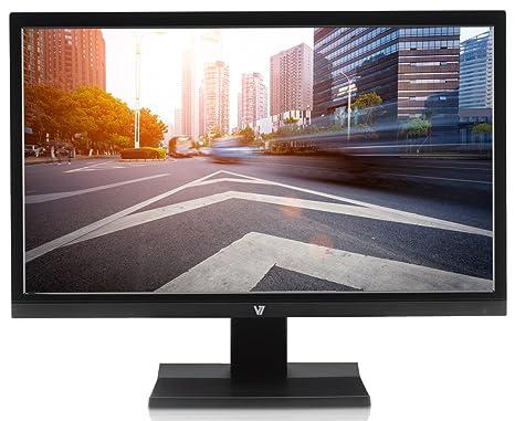 """V7 L21500WDS-9E 55cm (21,5 """") moniteur (DVI, VGA, Full-HD, 5ms, haut-parleurs, classe d'efficacité énergétique A+, câble d'alimentation UE) noir"""
