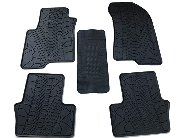 Caartonn Rubber Floor Mats All Weather Heavy Duty Trunk Mats fit for Ford Focus 2012 2013 2014 2015 2016 2017 2018