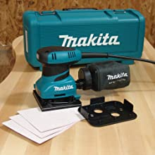 Makita BO4556K 2.0 Amp 4-1/2-Inch Finishing Sander with Case, AMPS 120 Volt