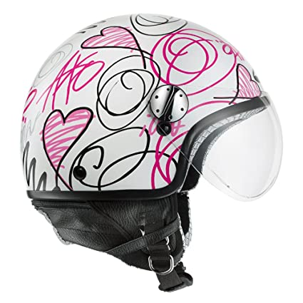 AXO mS1P0013 casque jet subway taille xS (wP jet blanc/rose)