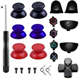Yosikr 3 Pairs Thumbsticks Joystick for PlayStation 4 PS4 Controller Gamepad with Cross Screwdriver + L2 R2 L1 R1 Trigger Replacement Parts + ABXY Bullet Buttons + D-pad + Small spring (3 Packs) (Color: 3 Packs)