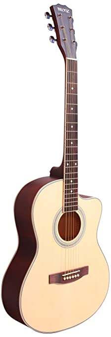 Bronz BL02C NTM 38 inch Cutaway Acoustic Guitar, Matte Natural available at Amazon for Rs.3300