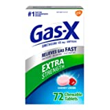 Gas-X Extra Strength Chewable Tablet, Cherry, 72 Count