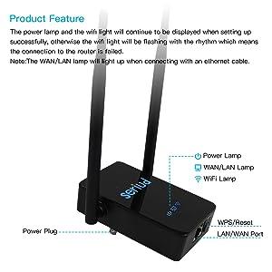 WiFi Extender,Seriud Extender, WiFi Booster WiFi Range Extender Wireless Repeater Internet Extender Wireless Extender Wireless Internet Booster 300Mbp