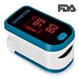 Fingertip Pulse Oximeter Blood Oxygen Saturation Monitor with silicon cover,Lanyard(Batteries not include) (Color: 2)