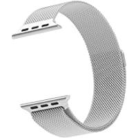 Cambond Apple Watch Milanese Loop Magnetic Band in Silver 42mm or Silver 38mm