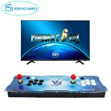 Spmywin GroGou Arcade Video Game Console 2000 HD Retro Games Pandoras Box 6 Arcade Machine Newest System 1280x720 Full HD Advanced CPU Support PS3 2 Player Arcade Joystick (Color: Pandora Box 6-vs)
