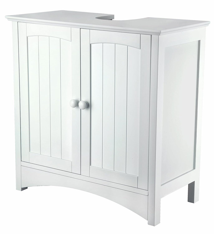 Waschbeckenunterschrank - MDF weiß lackiert