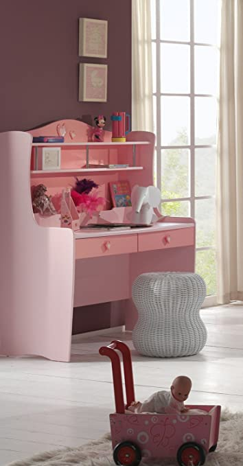 Bunk lizbu14 Lizzy Pink Lacquered MDF Desk 144,5 x 58 x 123 cm