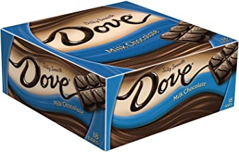 18-Pack Dove Milk Chocolate 1.44oz Candy Bar