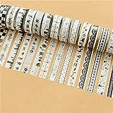 TraveT 10pcs Mixed DIY Decorative Washi Paper Tape Decorative Scrapbooking Sticker Set