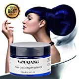 Temporary Blue Hair Wax Natural Ash Matte Hair Professional Lacquers Gel for Party Cosplay (Blue)