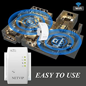 300Mbps WiFi Extender Range Booster, 2 in 1 Repeater/Wireless Access Point Mode WPS Button Plug and Play, 360 Degree Full Coverage, Internet Boosters Extend WiFi for Any Smart Home&Alexa Devices (Color: White, Tamaño: 300Mbps)