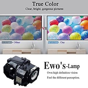 EWOu0027S HC8350 Replacement Lamp For EPSON PowerLite Home Cinema 8350 8345  8500UB 8700UB 6100 6500UB 8100 ...