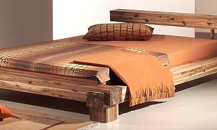 Modular cal140.41 Bett Cali / 140 x 200 cm / Akazie massiv, natur gewachst