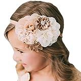 Miugle Baby Girl Flower Headbands Turban Head Wraps Infant Girls Hair Band Headwear (Color: Multicolored, Tamaño: 0-6years)