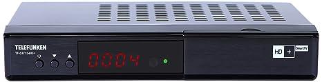Telefunken TF-S7715-HD + Full HD récepteur satellite (HDTV, DVB-S2, HD Plus Smart TV / Replay, HbbTV, Media Player, Ethernet, HDMI, USB) noir