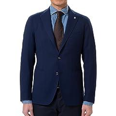 Tagliatore Montecalro Herringbone Wool Jacket: Navy
