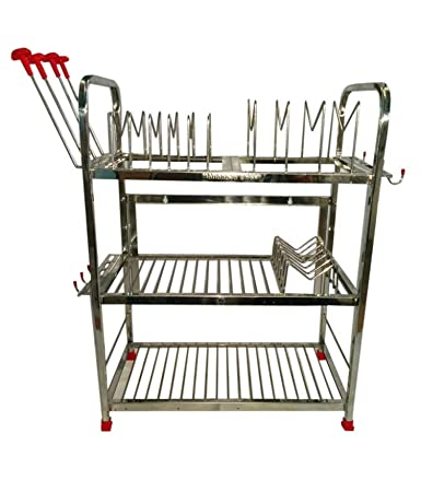 Maharaja Modern Kitchen Rack Stand Regular Size For Dishes Plates Glass