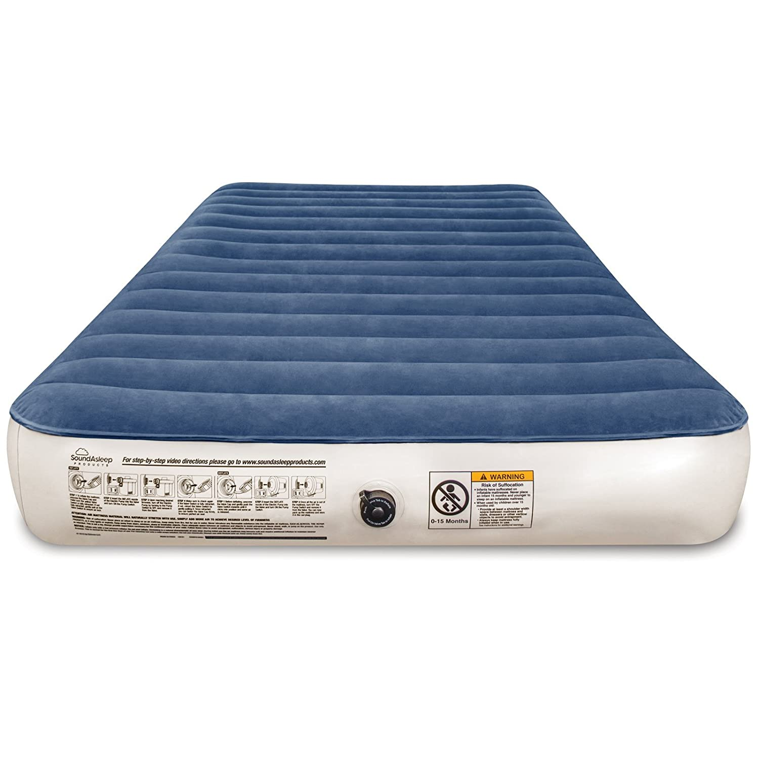 SoundAsleep Camping Series Air Mattress with Included Rechargeable Air Pump