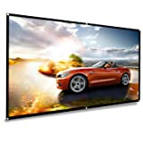 koogoo Projection Projector Screen 70 Inch HD 16:9, Portable Foldable Indoor Outdoor Movie Screen,Support Double Sided Projection, Suitable for HDTV/Sports/Movies/Presentations (70 inch) (Tamaño: 70 inch)