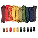 Paracord Planet 550lb Type III Paracord Combo Crafting Kits with Buckles (Boy Scouts) (Color: Boy Scouts)