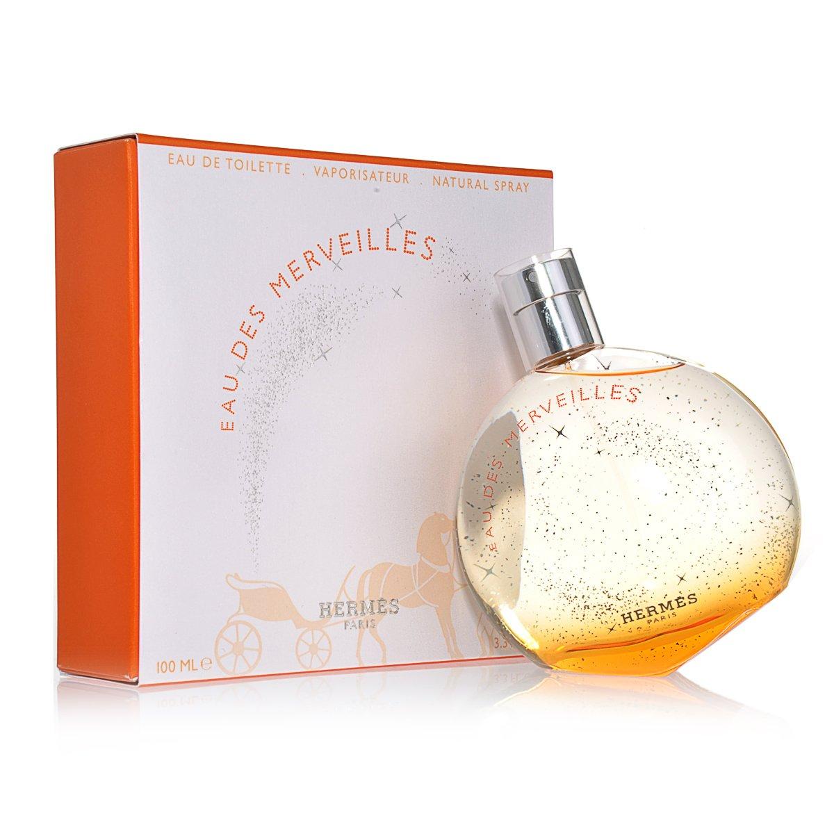 Eau Des Merveilles By Hermes For Women. Eau De Toilette Spray 3.3 Oz