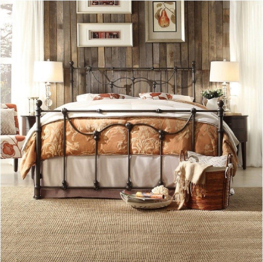 Bellwood Dark Bronze Victorian Iron Metal Bed - Queen Size 0
