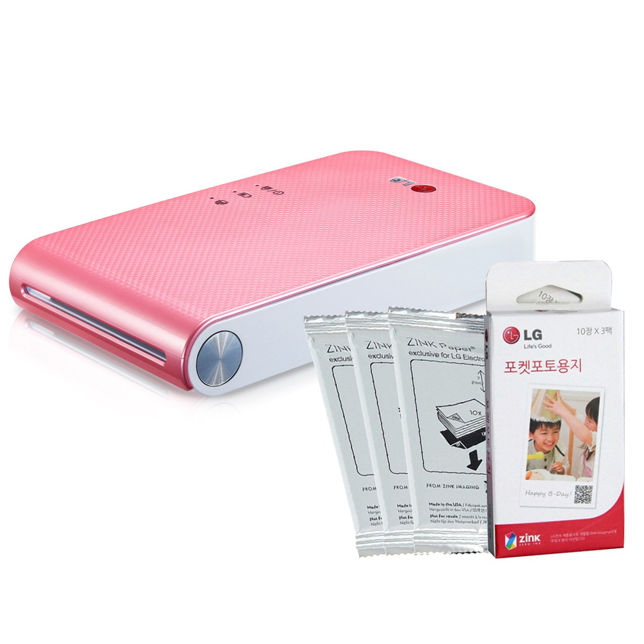 LG-PoPo-Pocket-Photo-2-PD239-Pink-Mini-Portable-Mobile-Photo-Printer-30-Zink-Paper-Sheet-for-Android-iOS