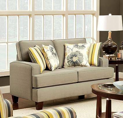 Furniture of America Renata Love Seat, Beige