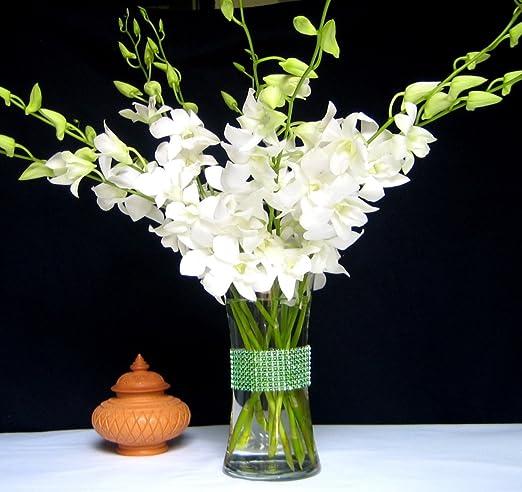Fresh Flowers | White Dendrobium Orchids | Vase