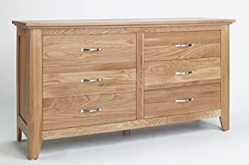 SHERWOOD OAK 6 DRAWER LOW CHEST