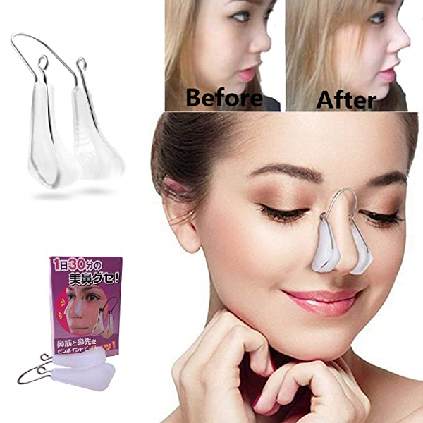Nose Shaper Lifter Clip Nose Beauty Up Lifting Soft Safety Silicone Rhinoplasty Nose Bridge Straightener Corrector Slimming Device for Wide Crooked No
