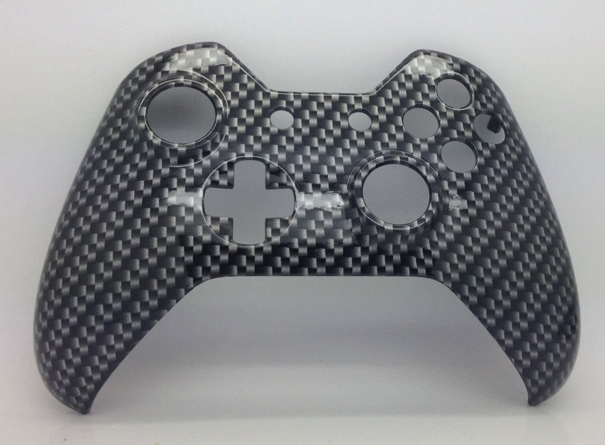 Xbox Original One Hydro Dipped Black Carbon Fibre Controller Shell Mod - Front Shell carbon fiber custom for xbox 360 hydro dipped controller shell mod kit parts housing kit for x box 360 original