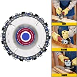 Angle Grinder Disc,IRmm 4 Inch Wood Carving Disc Chain Saw Plate 22 tooth, 5/8