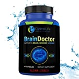 Brain Booster, Maximum Strength Brain Focus & Memory Supplement to Optimize Brain Function, Increase Clarity & Energy, Improve Mood. Nootropic Supplement w DMAE for Brain Support. Gluten Free 60 Caps