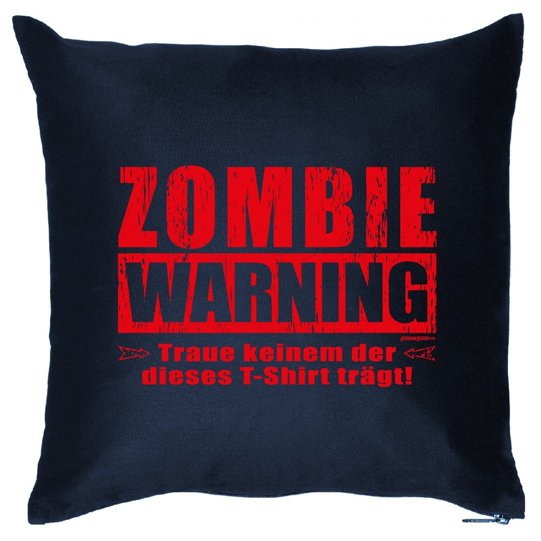 Kissen Sofakissen mit Aufdruck – Zombie Warning – Horror Geister Hexe Grusel Monster Halloween Geschenk – Wendekissen online kaufen