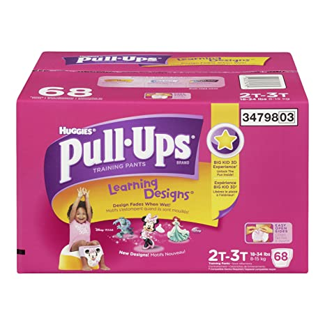Pull-Ups Learning Designs Training Pants 2T-3T Girl, Giga Pack, 68-Count: Amazon.ca: Health & Personal Care