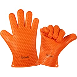 Vervetie Silicone Oven Mitts Gloves for Cooking Barbecue