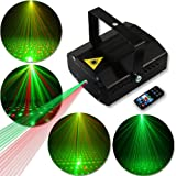 Disco Lights Party Lights GOOLIGHT Dj Strobe Light LED Projector Metal Case Sound Activated Stage Lighting with Remote Control for Birthday Parties Bar KTV Karaoke Equipment Dancing Christmas Wedding (Color: Black)