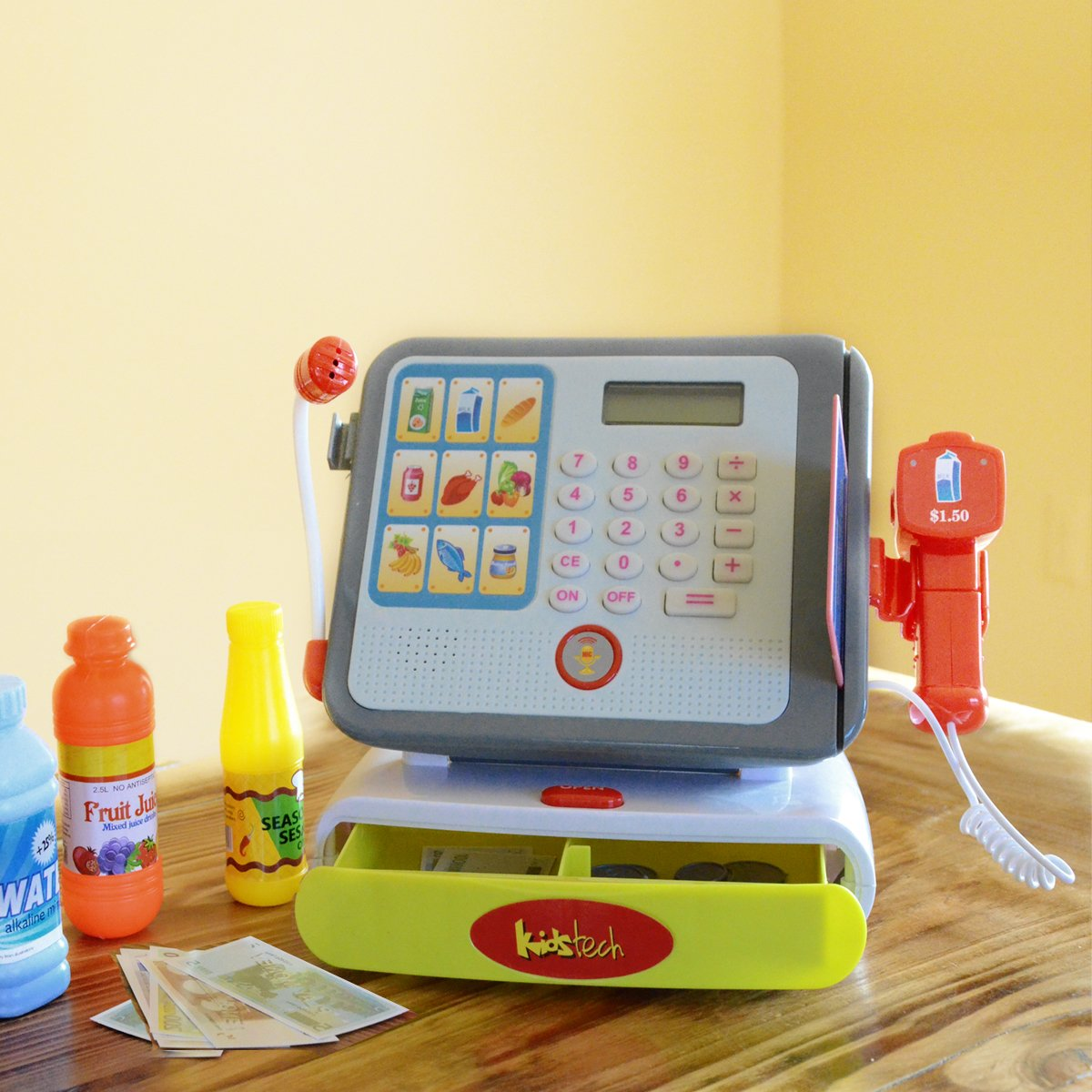 Toy Cash Register With Scanner : Durable modeling kids electronic till cash register toy